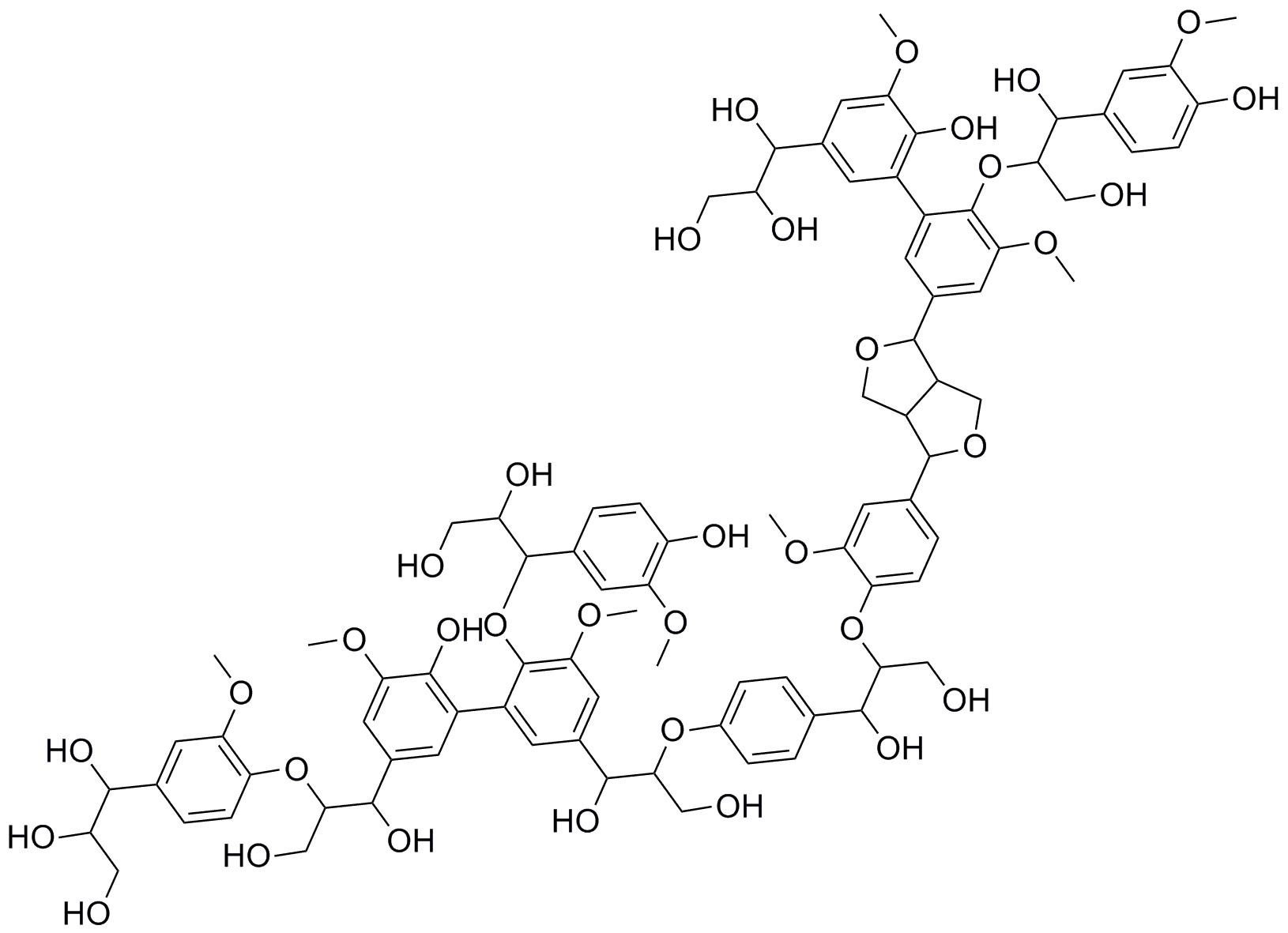 Figure 1: Example for the molecular structure of lignin