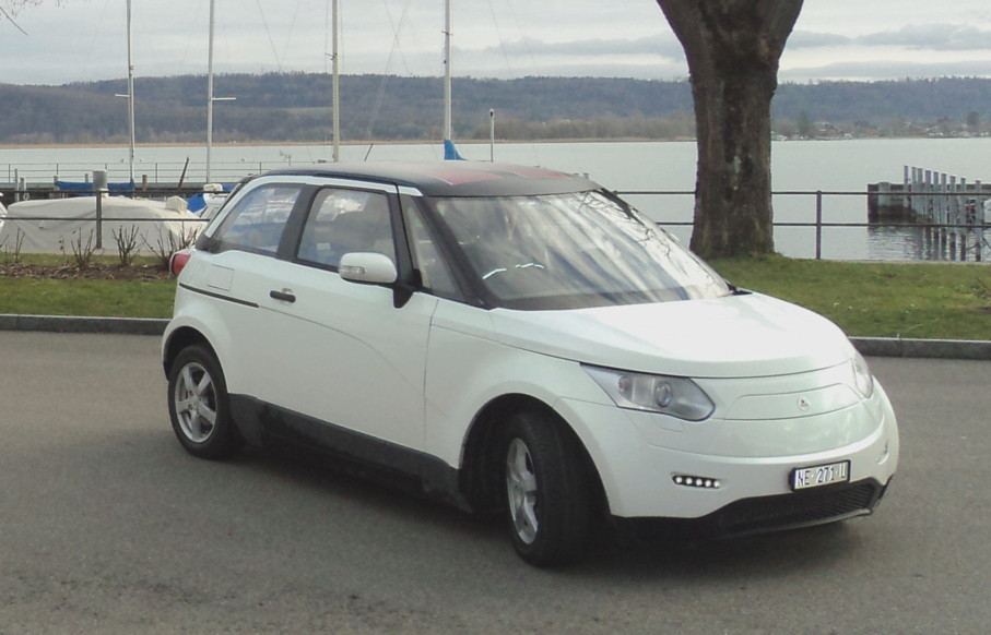 Fuel Cell Car developed by Belenos Clean Power Holding and Paul Scherrer Institut at the coast of Lake Neuchâtel.