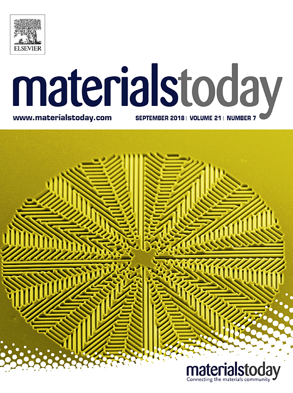 Cover Page of the September 2018 issue of Materials Today