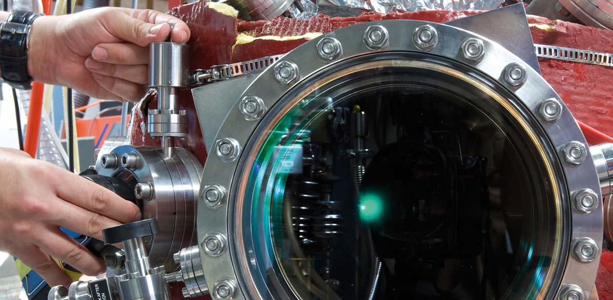 Laser-induced plasma in an ultra high vacuum chamber