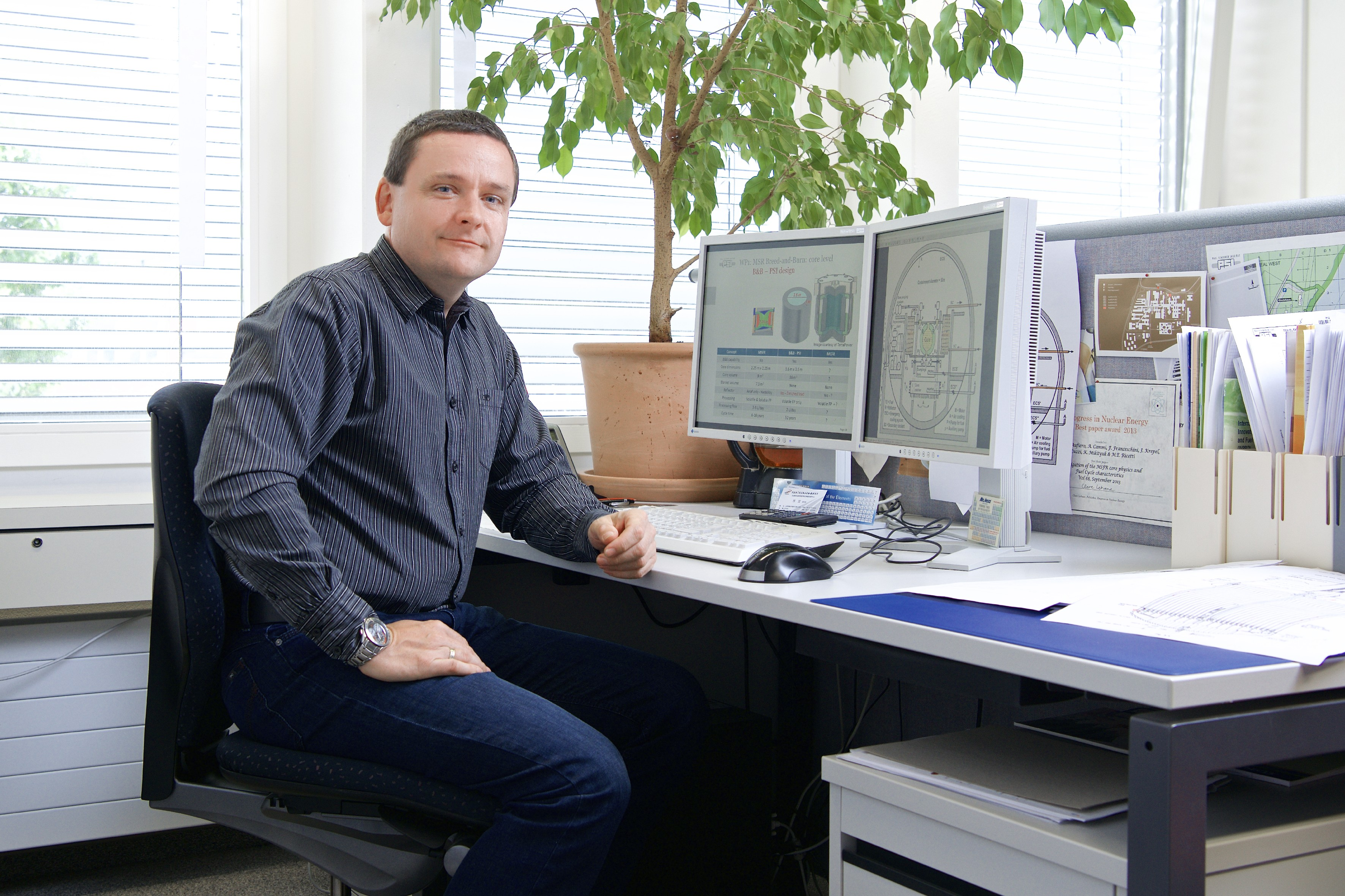 Jiri Krepel, researcher in the group Fast reactors at PSI. (Photo: Paul Scherrer Institute/Markus Fischer)