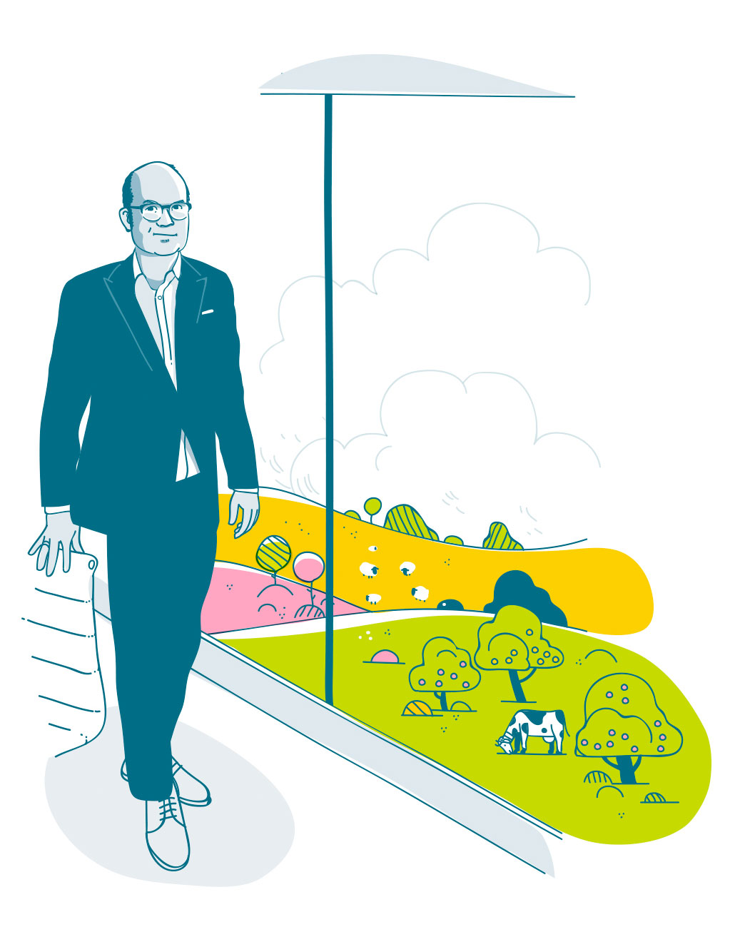 Peter Dietiker, division manager at Energie 360° (Illustration: Christoph Frei)