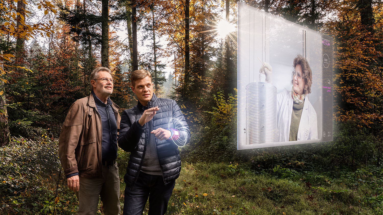 """Hans Sigg, Jonathan White and Marisa Medarde (from left) </br> (Photo: Scanderbeg Sauer Photography, 3d-object and visualisation: Incursion/Manuel Guédes)"""" width=""""380″ height=""""213″/></a><figcaption> Hans Sigg, Jonathan White and Marisa Medarde (from left)<br>(Photo: Scanderbeg Sauer Photography, 3d-object and visualisation: Incursion/Manuel Guédes) </figcaption></figure></div>    <p><strong>Marisa Medarde: Storage thanks to coupled properties</strong></p>    <p>Another current magic word is multiferroics. Marisa Medarde, head of the PSI research group for physical properties of materials, investigates these special compounds whose magnetic and electrical properties are coupled together. On multiferroics, magnetic data could easily be stored by means of electrical voltage. That would be faster and more energy-efficient than the magnetic write heads in use today.</p>    <p><strong>Frithjof Nolting: Switching bits with laser light</strong></p>    <p>Alternatively, also for this purpose you could use laser light.We have found out that you can also switch the magnetic bits with a laser pulse, says Frithjof Nolting, head of the laboratory for condensed matter at PSI. Here too the advantage would be faster storage with lower energy consumption. At the moment Nolting and his research group are trying to confirm or disprove theoretical predictions.When I began to get interested in magnetism, I really just wanted to do fundamental research and understand what's happening on this small magnetic scale, says the nanoscientist:However, our research could now contribute to further improvements in hard drives.<br></p> </div> </div> <div class="""