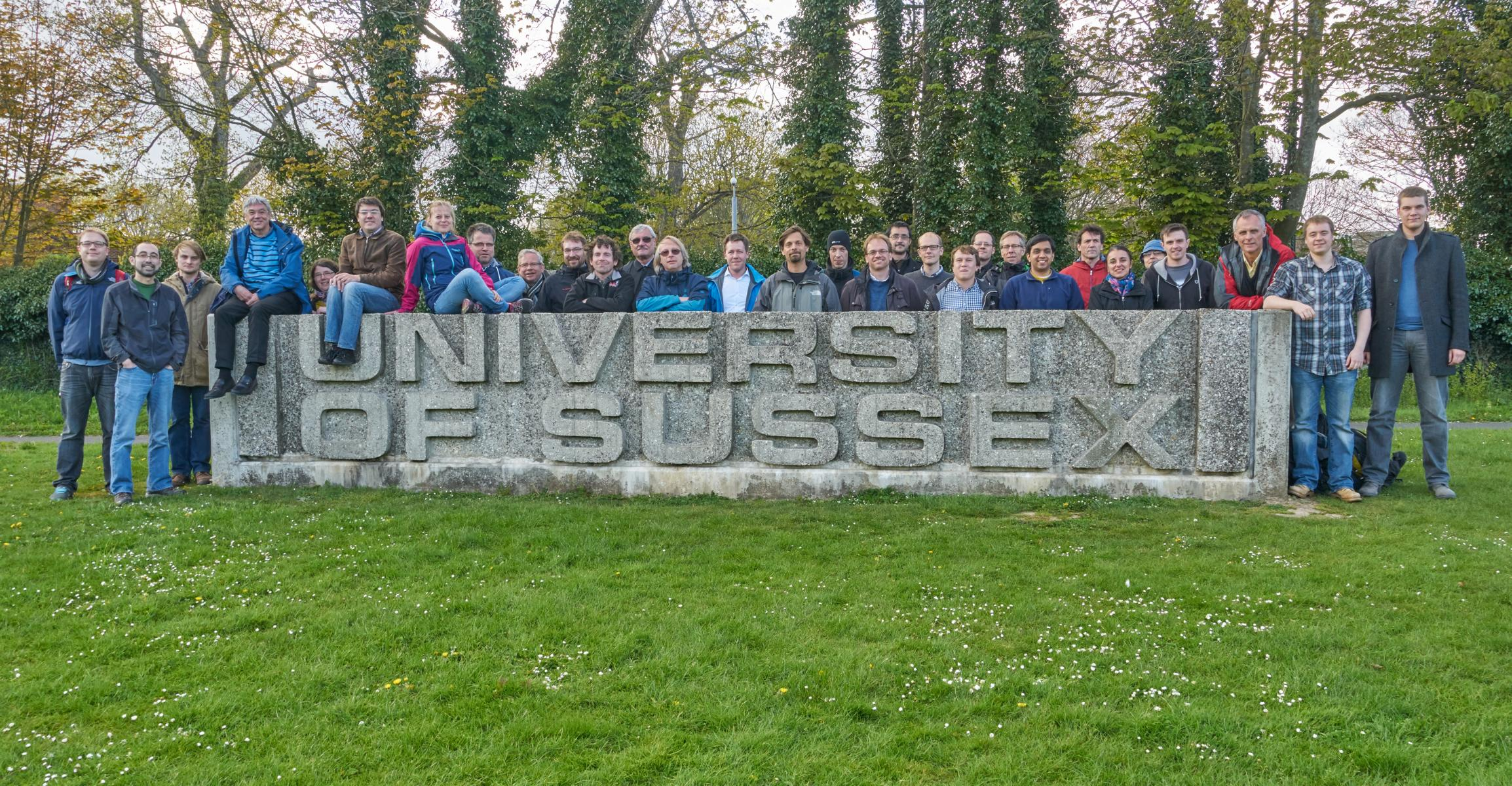 Picture taken at our collaboration meeting at University of Sussex, 29. April 2016