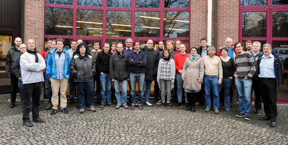 Picture taken at our collaboration meeting at KU Leuven, 6. January 2012