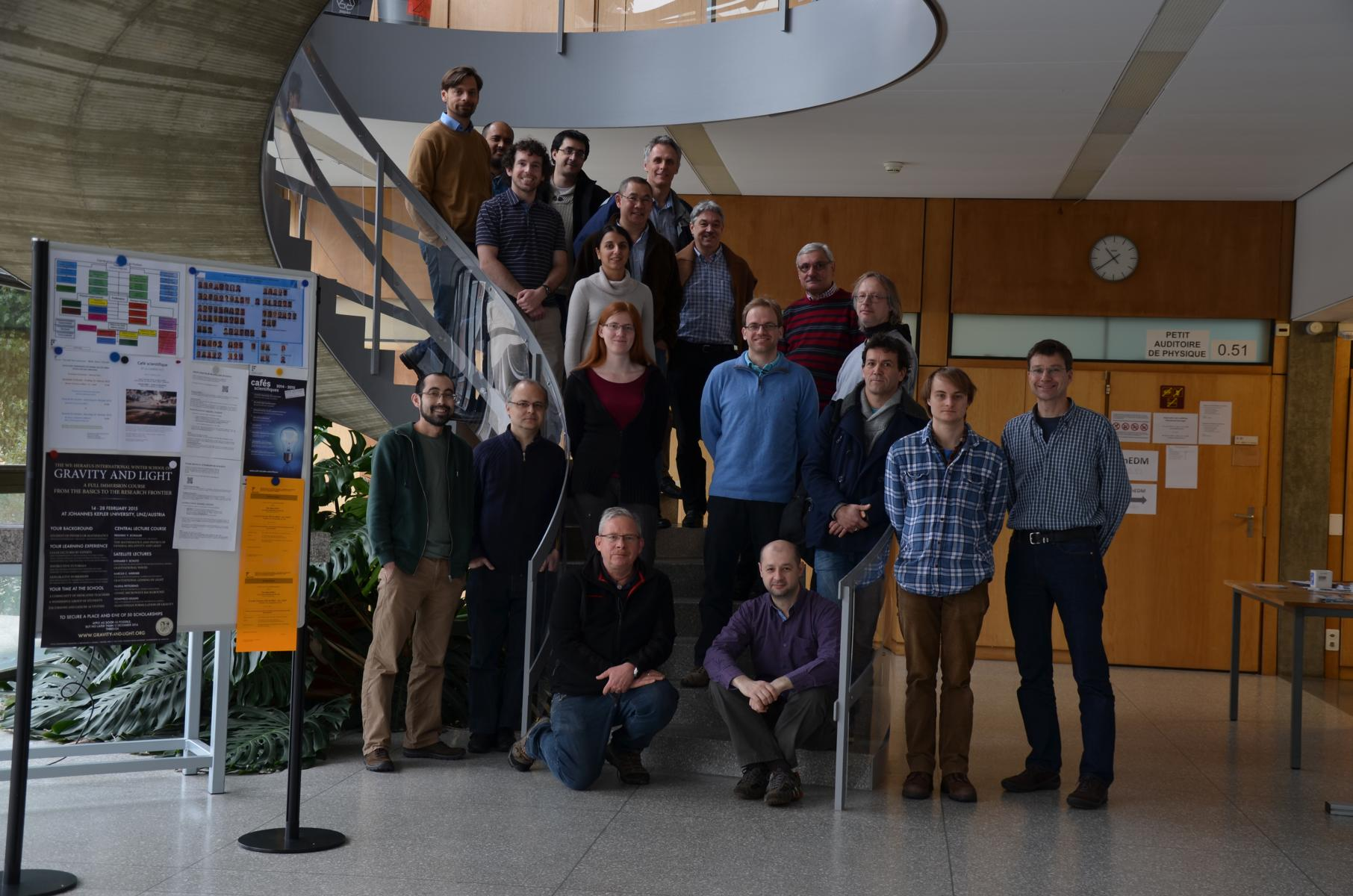 Picture taken at our collaboration meeting at Université de Fribourg, 17. January 2015