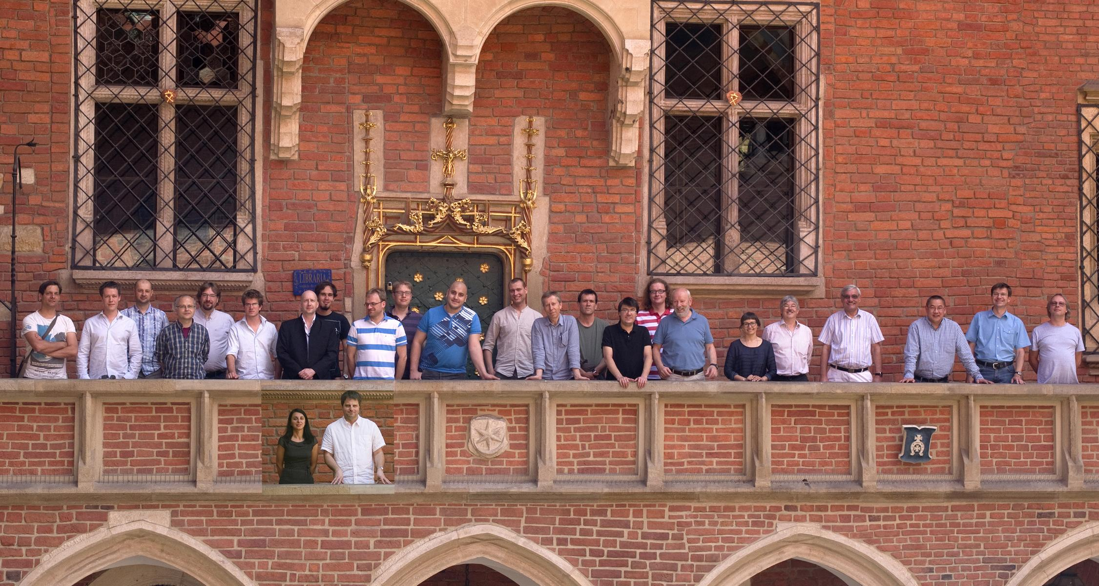 Picture taken at our collaboration meeting at JU Krakow, 2. July 2013