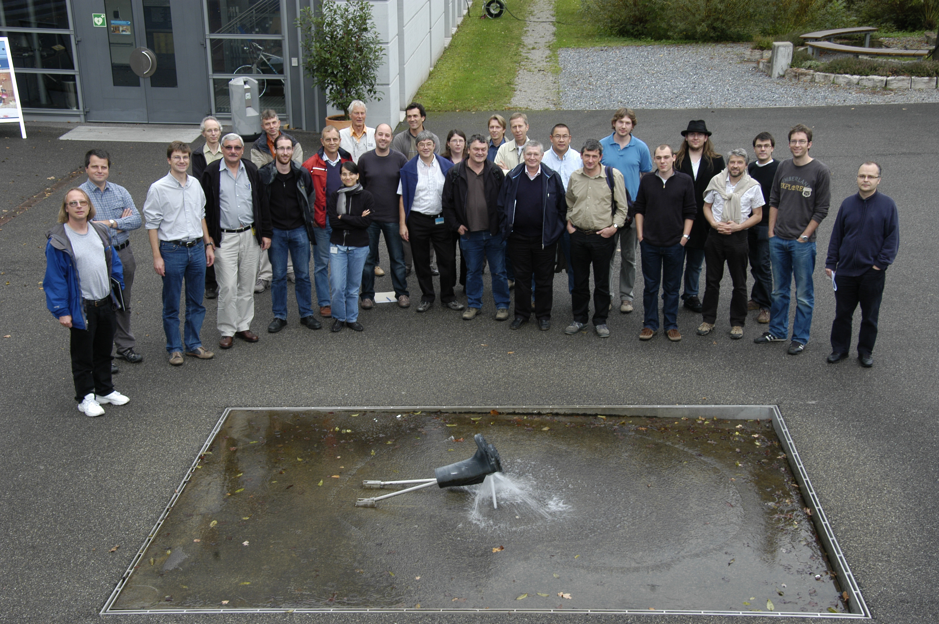 Picture taken at our collaboration meeting at PSI, 9. October 2009
