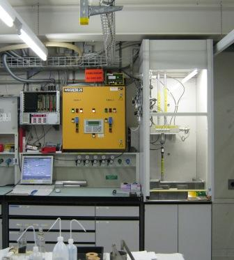 NAA Loading Base in the laboratory
