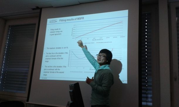 FAST in August 2015 (PSI Villigen). Jongsoo Choe defends his MS thesis 'Empirical Decay Heat Correlations and Fission Products Behavior in MSRs'.