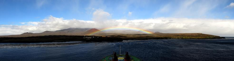 Rainbow over Marion Island