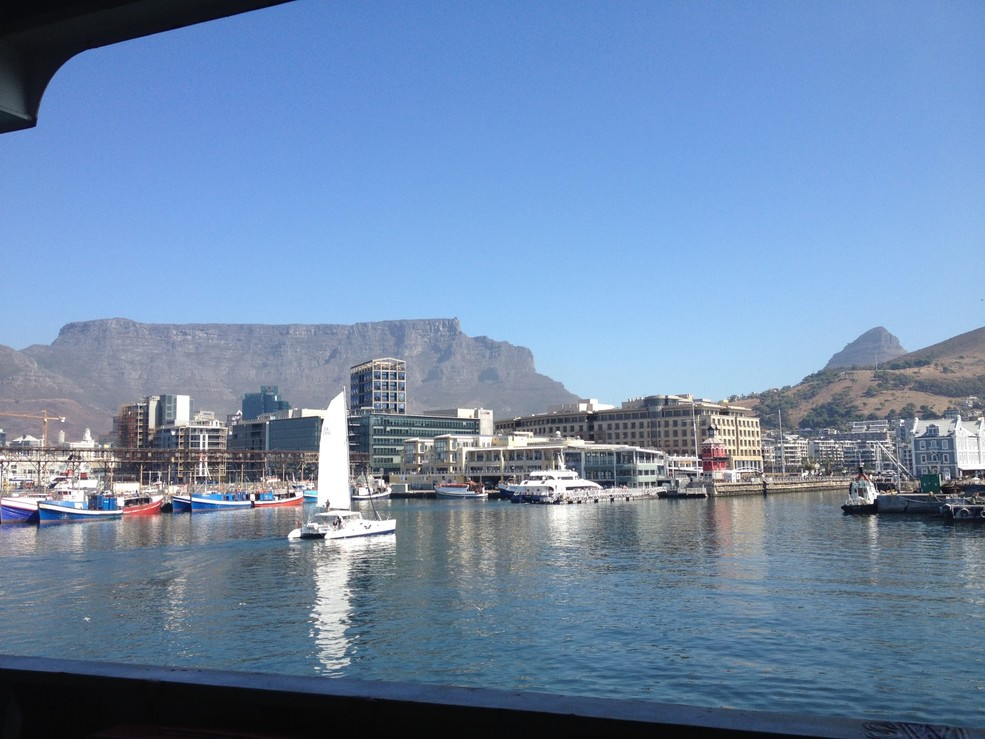Leaving from Capetown harbor