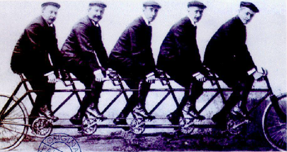 Coherence works like these men pedalling in step