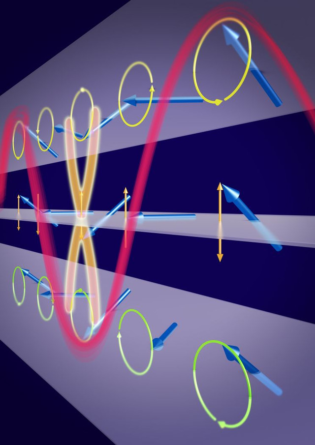 ultrashort spin-wave in a nickel-iron layer