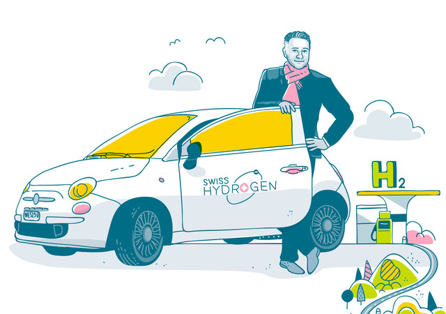 Alexandre Closset, directeur de Swiss Hydrogen (Illustration: Christoph Frei)