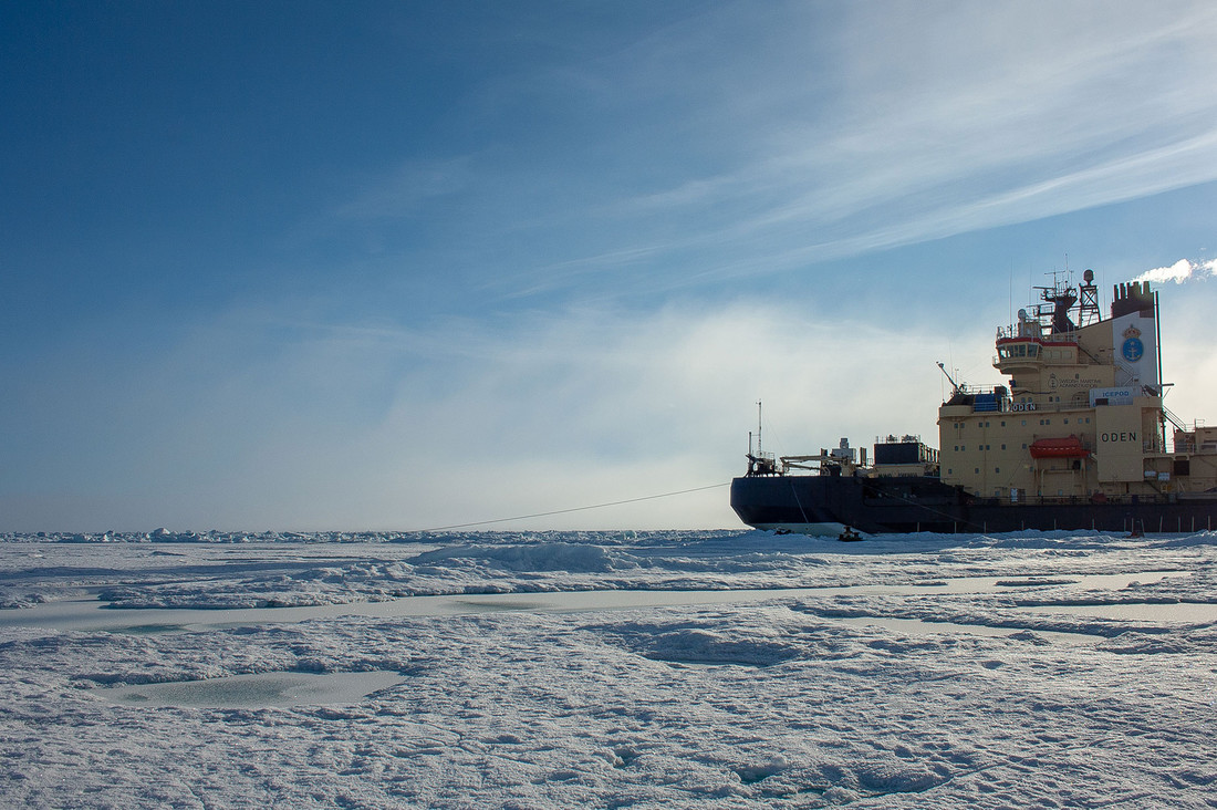 The Swedish icebreaker Oden on expedition in the Artic