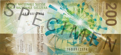 200 CHF banknote