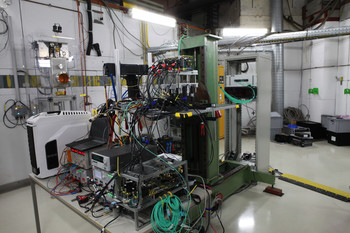 Setup fo the first integration test beam at DESY