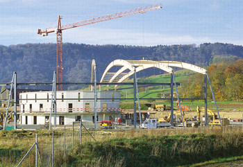 End of the 1990s:The Swiss Light Source taking shape.
