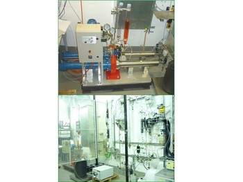 Pump for slurries, bottom: lab test rig Konti-2
