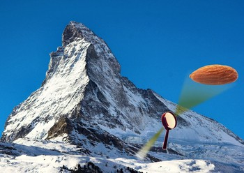 The enhanced dynamic range is comparable to identifying an almond lying at the foot of Matterhorn.