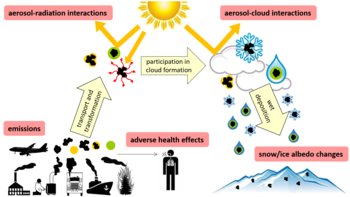 Atmospheric black carbon affects climate and causes adverse health effects.