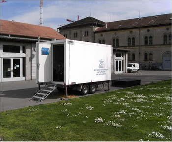 Measurement trailer at Zurich Kaserne