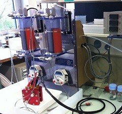 Redox-Flow test bench