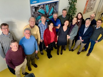 Members of the Research Committee in Feb. 2018. From left: K. Kirch, M. Ramsey-Musolf, S. Passaggio, P, Kammel, A. Signer, C. Curceanu, B. Filippone, G. Colangelo, L. Baudis, C. Hoffman, P. Riedler, G. Greene, D. Bryman, U. Uwer