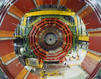 Protons collide inside the beam pipe at the centre, while the BPIX detector fitted around that location records the data in three dimensions. (Photo: H.R.Bramaz)