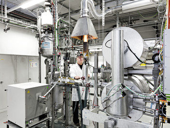 Laboratory in which  methods for the production of biomethane from wood are being developed.