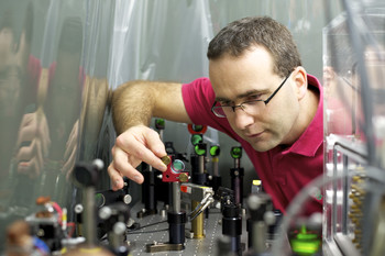 Aldo Antognini in the laser lab