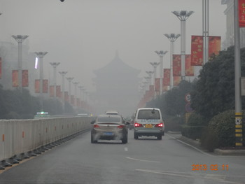In the Western Chinese city of Xi'an, also road traffic contributed substantially to the particulate matter pollution. Picture: Paul Scherrer Institute.