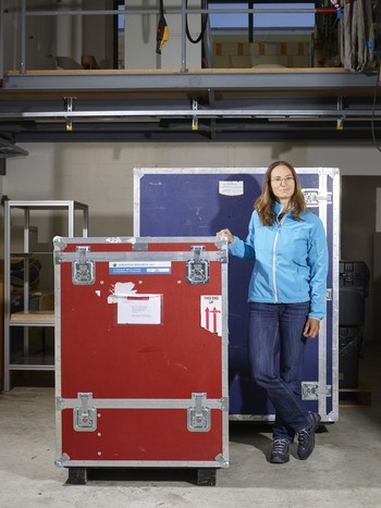 The research instruments are packed and ready to go: Atmospheric scientist Julia Schmale is preparing for the Antarctic Circumnavigation Expedition. (Photo: Scanderbeg Sauer Photography)