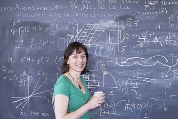 Nicola Spaldin, theoretical chemist and material scientist at ETH Zurich. (Photo:  Friedrun Reinhold Fotografie)