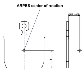Fig. 1: Center of rotation in the ARPES chamber with respect to the sample plate.