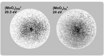 Photoelectron VMI Images of molybdenum oxide Clusters 2