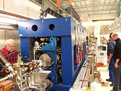 Installation of the Undulator in the !SwissFEL Injector Test Facility.